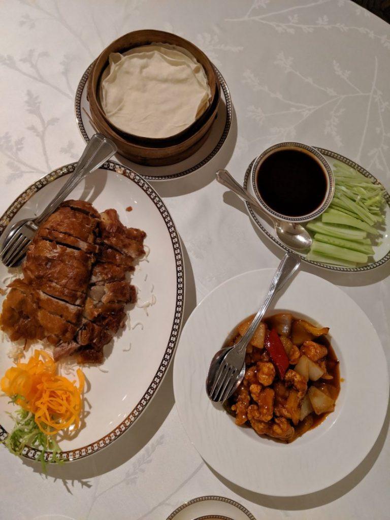dinner Shang palace Shangri La Bosphorus