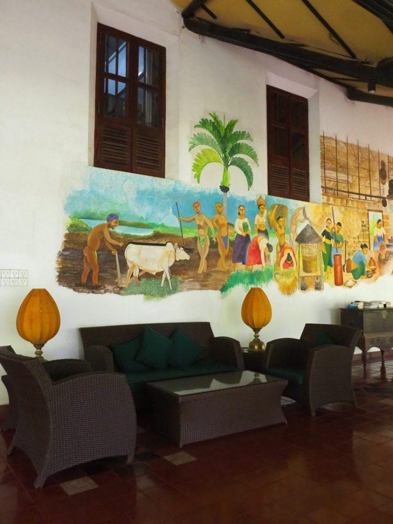 Ayurveda and yoga retreat in Sri Lanka - Review Siddhalepa resort lobby