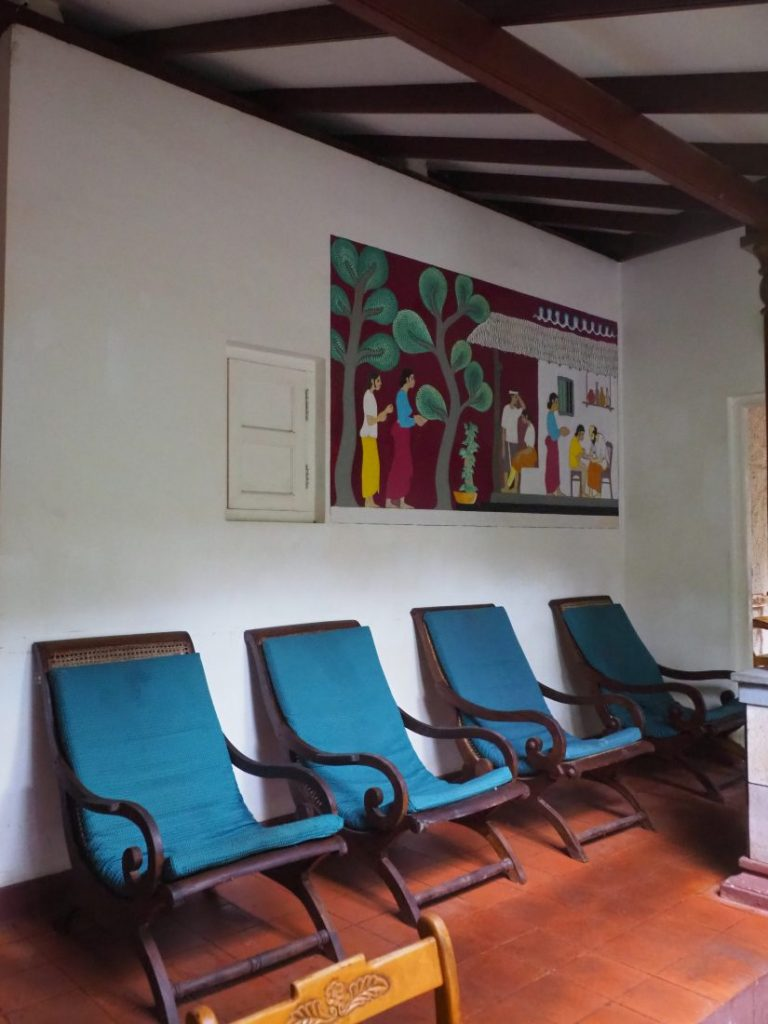 Ayurveda and yoga retreat in Sri Lanka - Review Siddhalepa resort waiting room spa