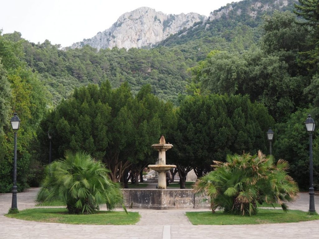 Monastery Lluc in Serra de Tramuntana mountains