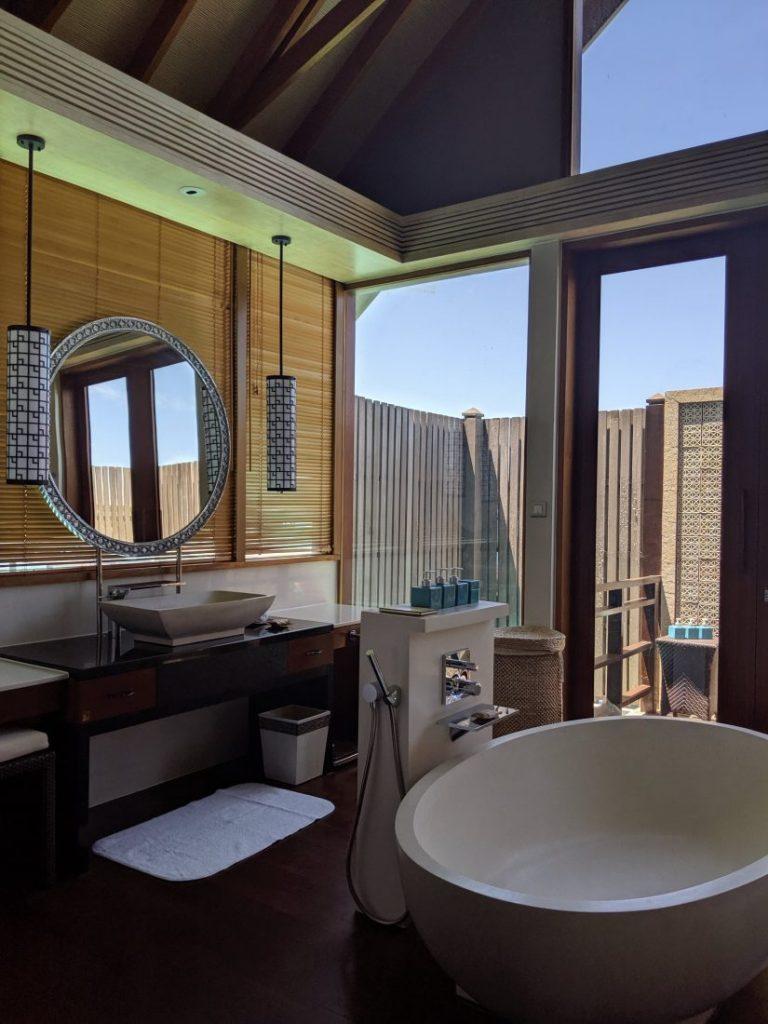 Shangri La Water villa bathroom 1