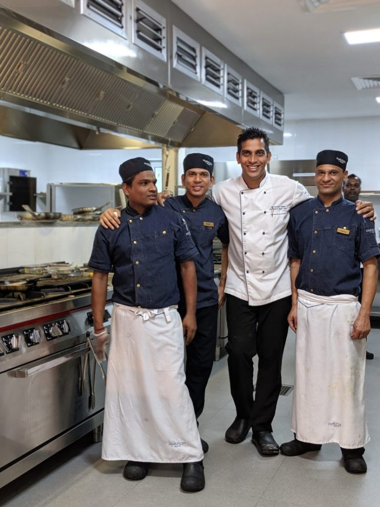 food team Faarufushi Maldives resort in Raa Atoll