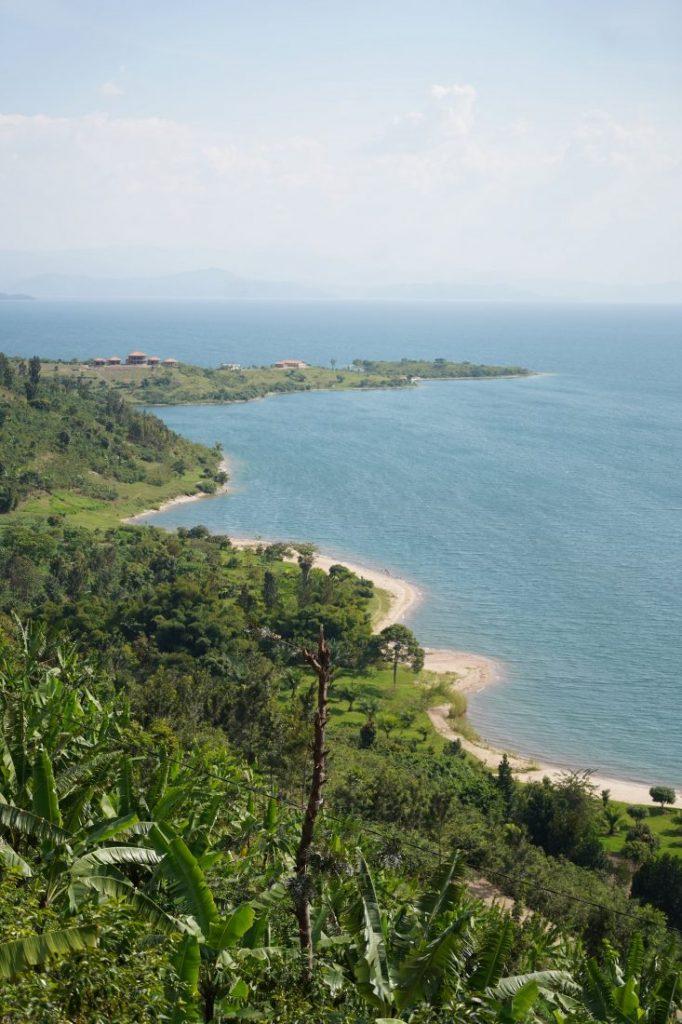 Beach lake Kivu Rwanda
