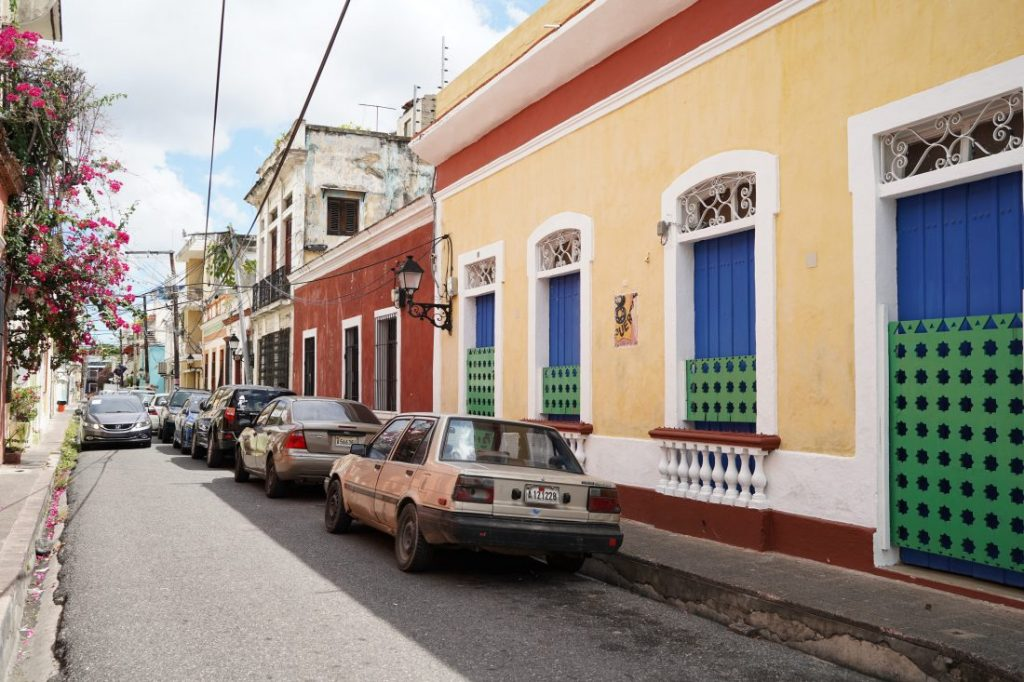 colourful streets Santo Domingo