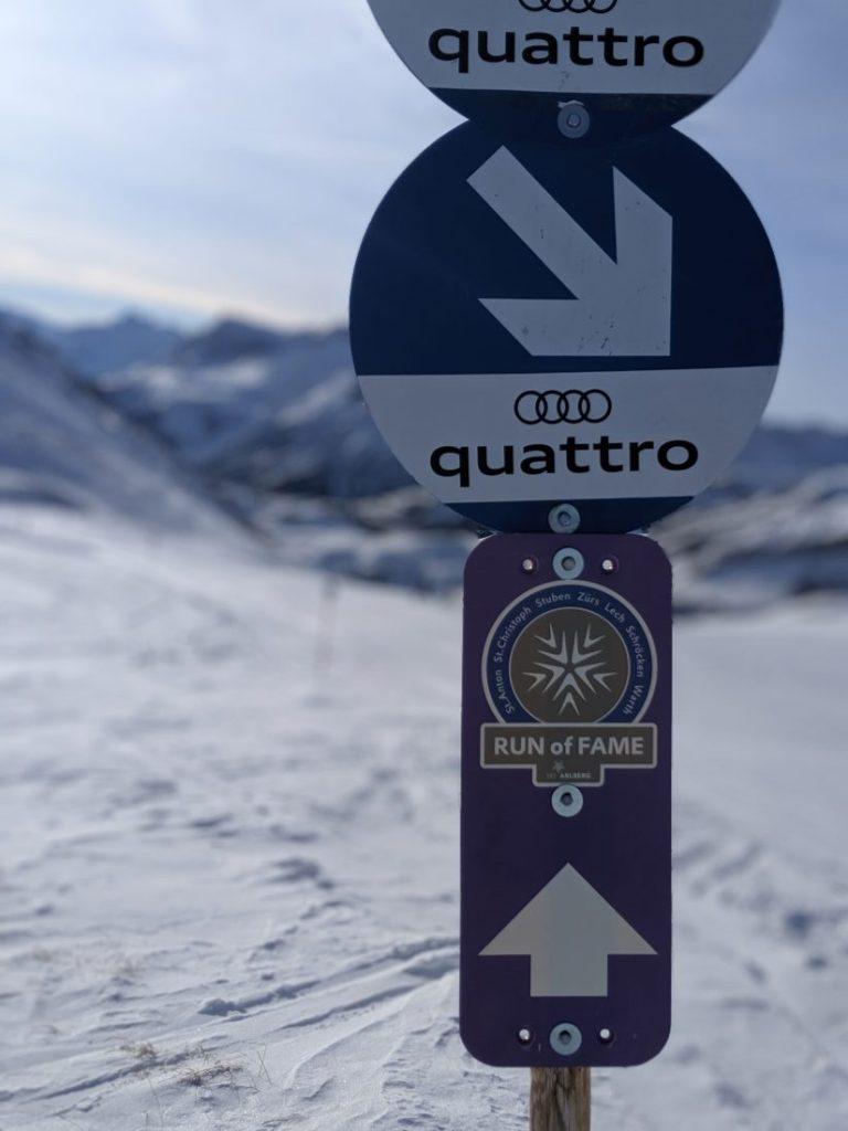 Run of fame Arlberg