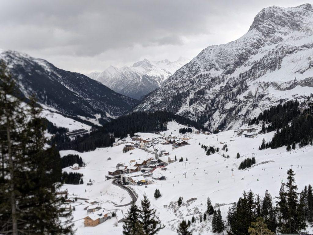 Skiing in Warth Ski resort review Arlberg largest ski area autria