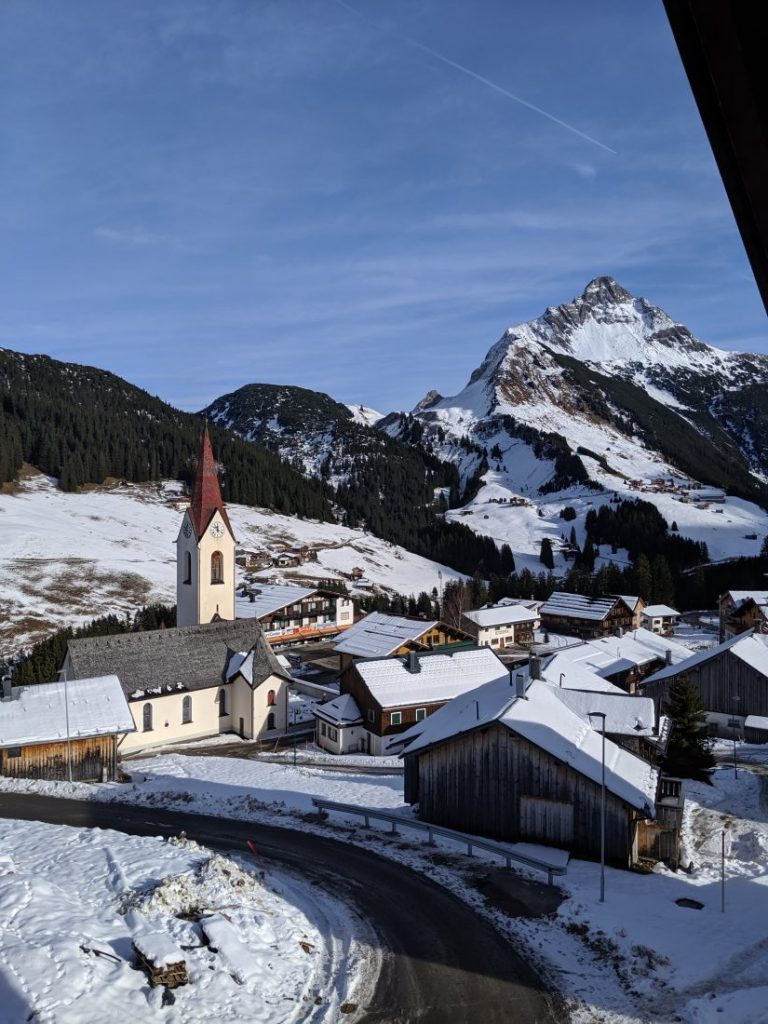 Skiing in Warth Ski resort review Arlberg largest ski area autria 2