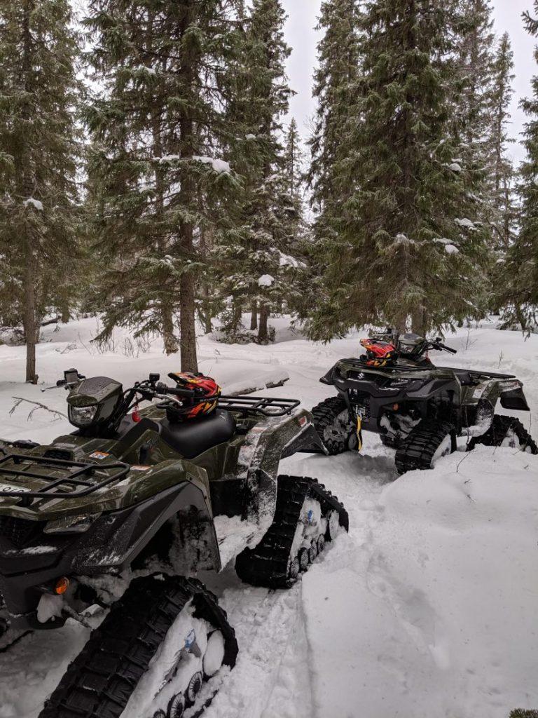 Winter activities in Jamtland Snow quad