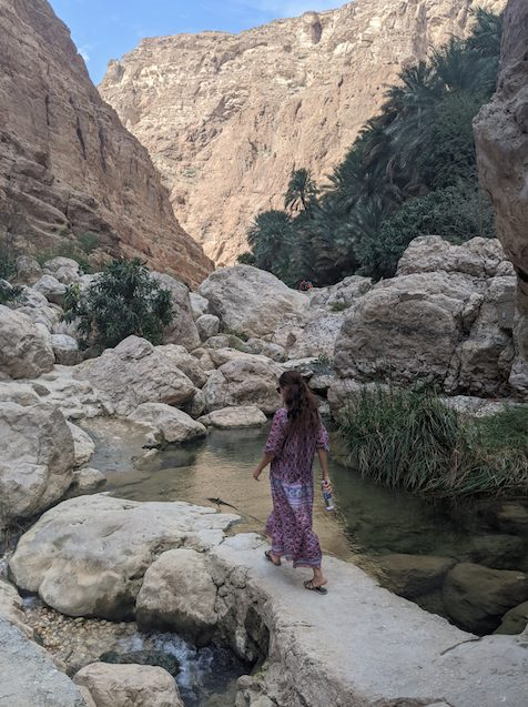 10 days Oman road trip itinerary Wadi Shab