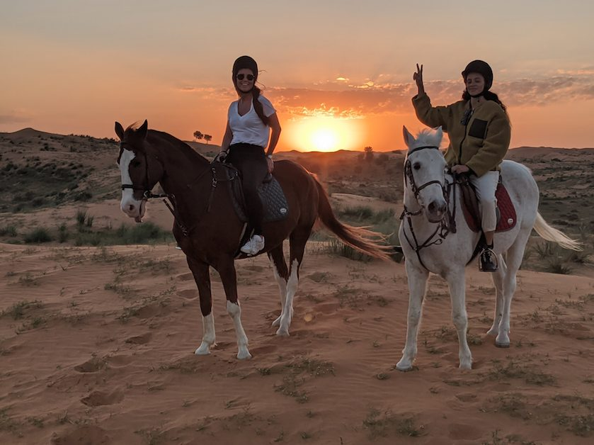 Horse riding Ras Al Khaima Ritz Carlton