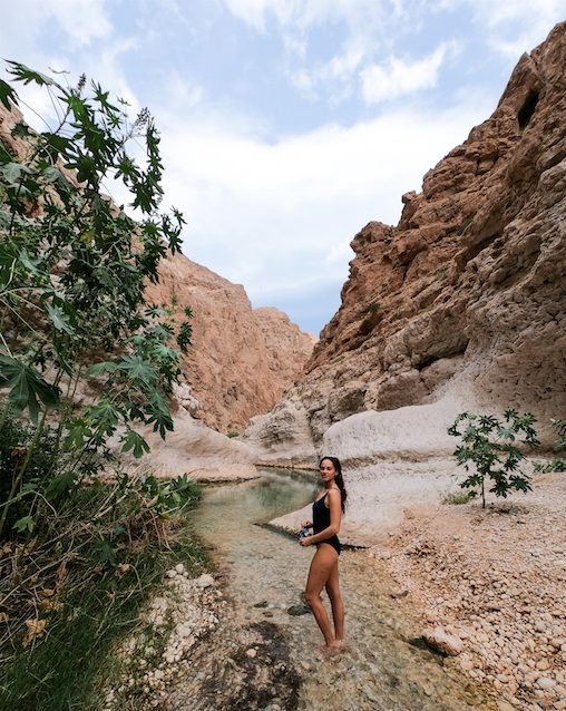 Traveling Oman as a woman Wadi Shab