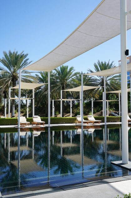 Where to sleep in Muscat - Chedi Muscat pool