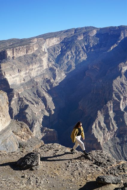 travel blogger Oman Jabal Shams