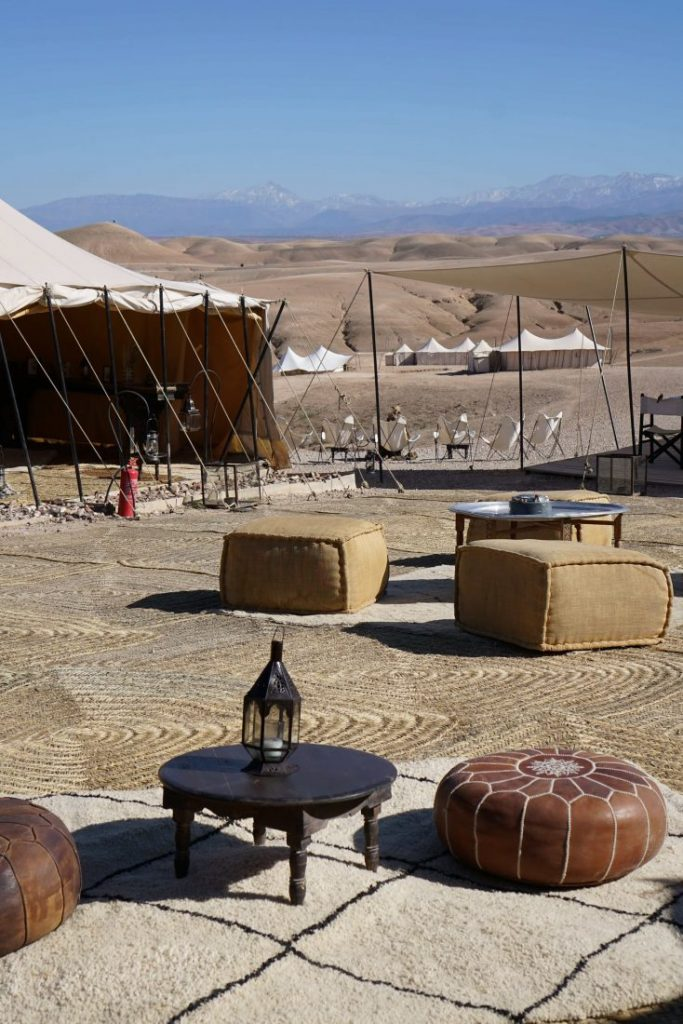 Glamping in Agafay desert at Scarabeo camp – Marrakech 1