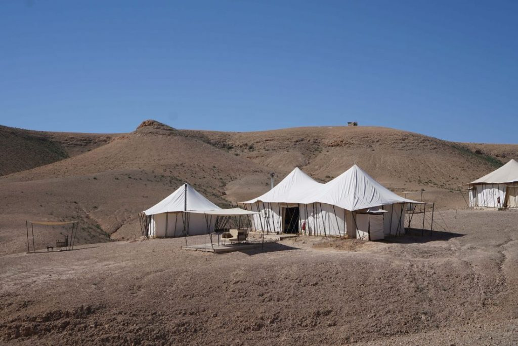 Glamping in Agafay desert at Scarabeo camp – Marrakech 4