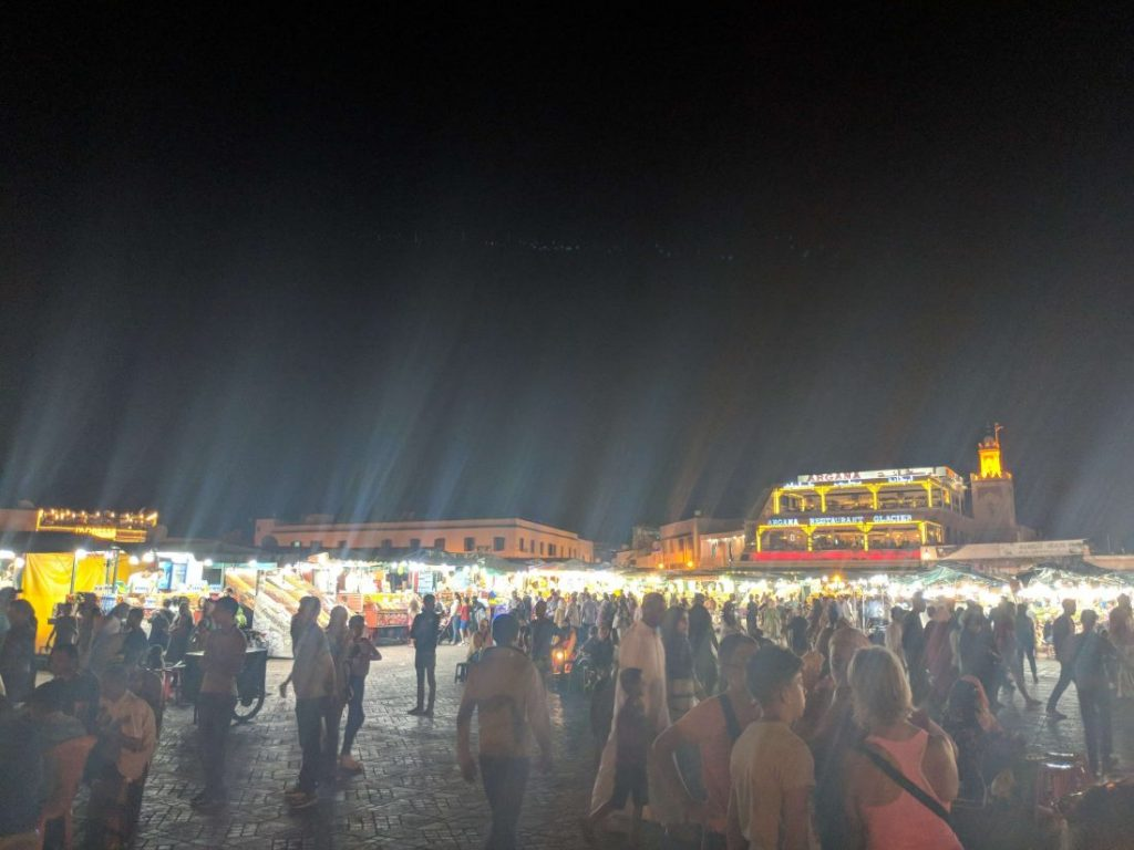 Jamaa El Fna square at night 1