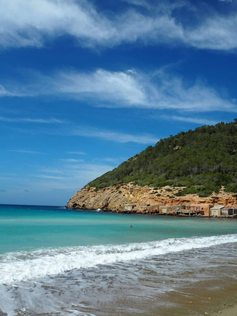Quiet beaches of Ibiza Cala Barrias