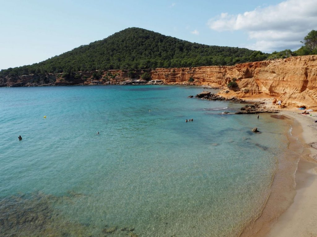 Quiet beaches of Ibiza Sa caleta