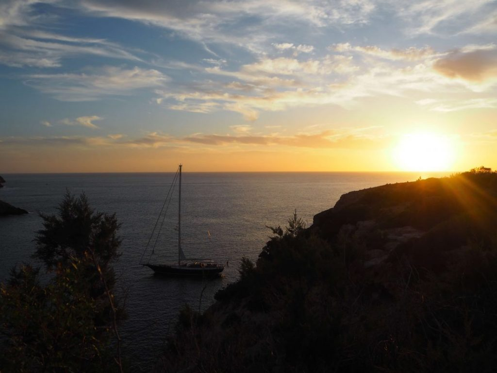 Quiet and relaxing Ibiza holidays watch the sunset