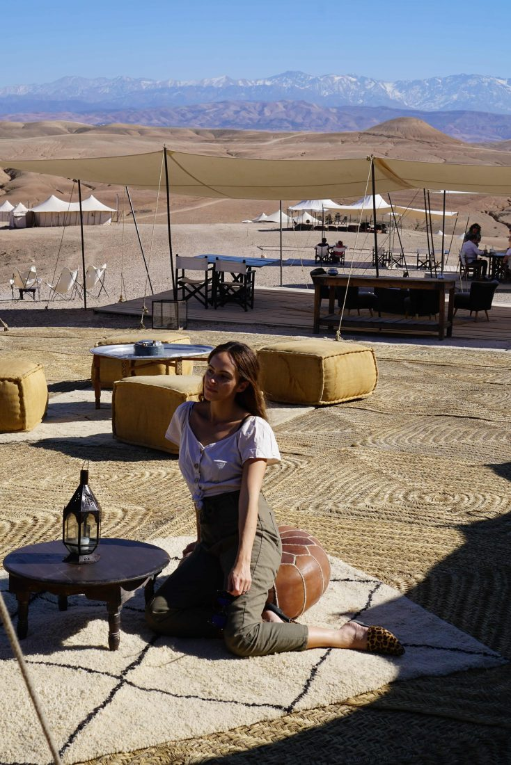 Glamping in Agafay desert at Scarabeo camp – Marrakech