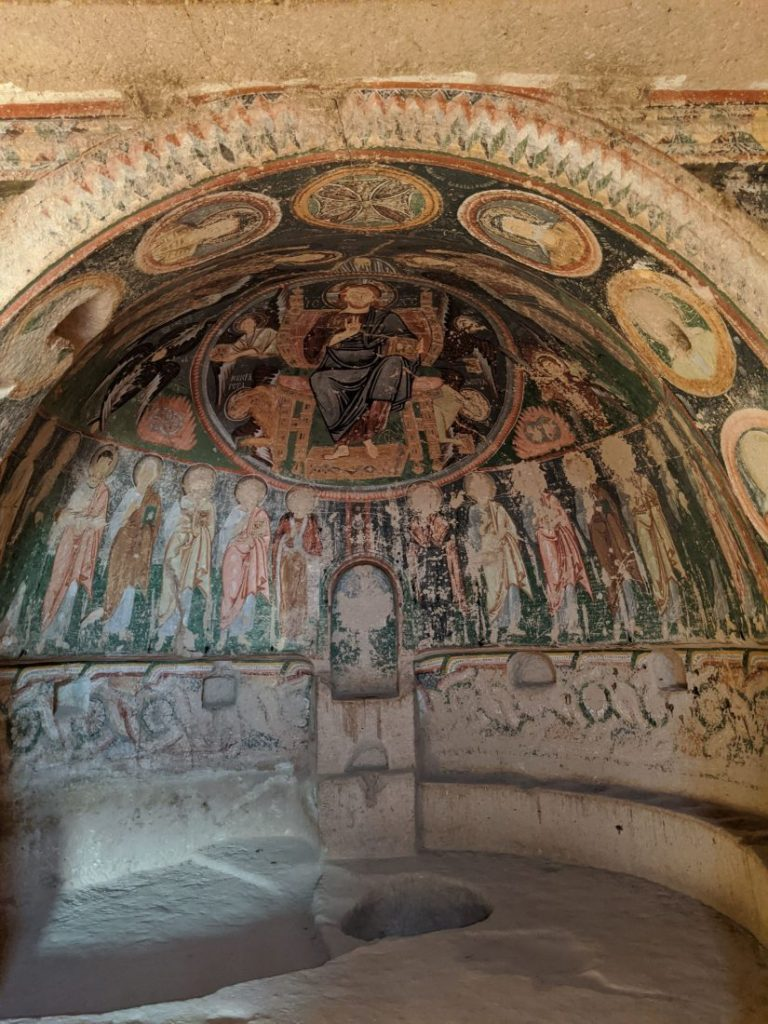 Visit christian church cave Cappadocia