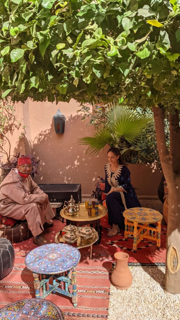 Moroccan tea Review Kasbat Tamadot Virgin resort