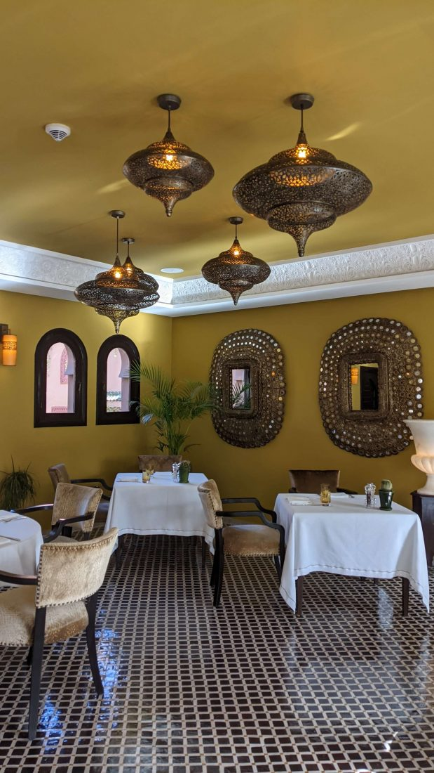 Restaurant Review Kasbat Tamadot Virgin resort Morocco