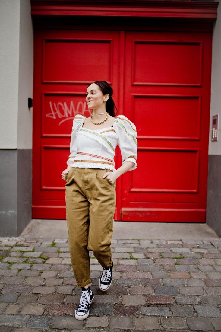 Outfit – Khaki cargo pants