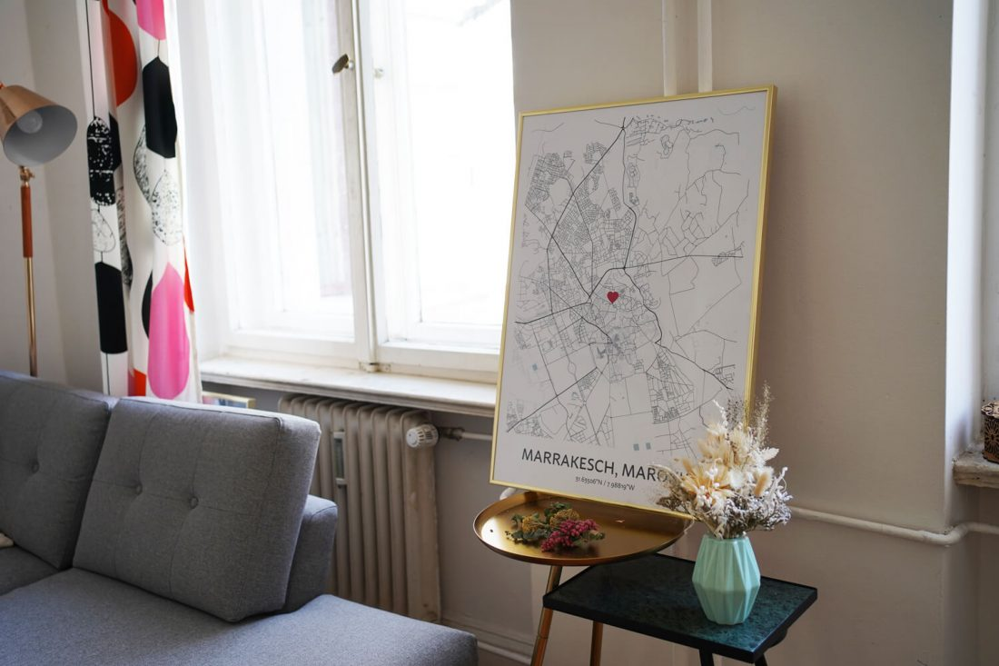 personalised map poster